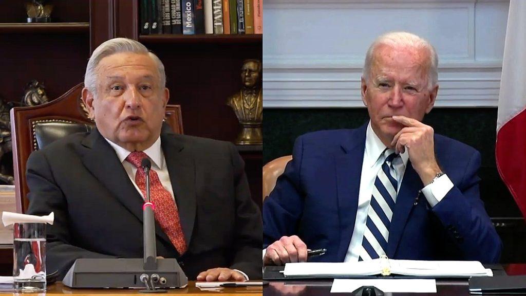 Captura de la llamada entre Andrés López y Joe Biden
