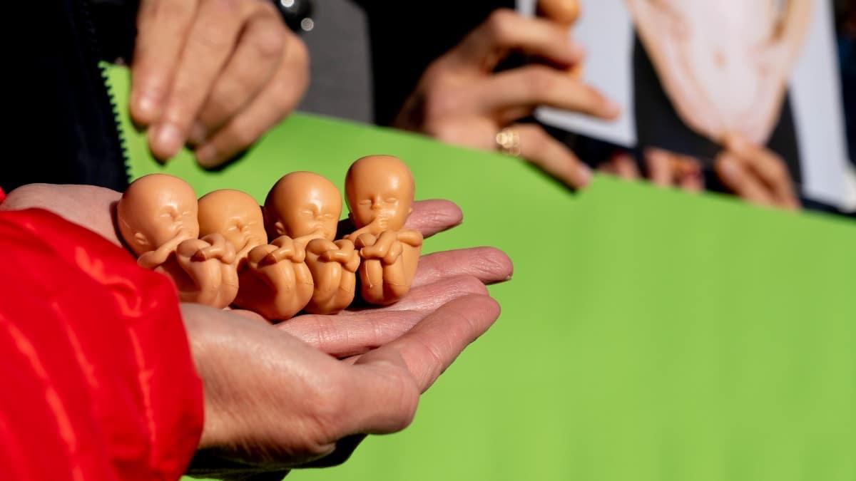 Manifestación en contra del aborto.