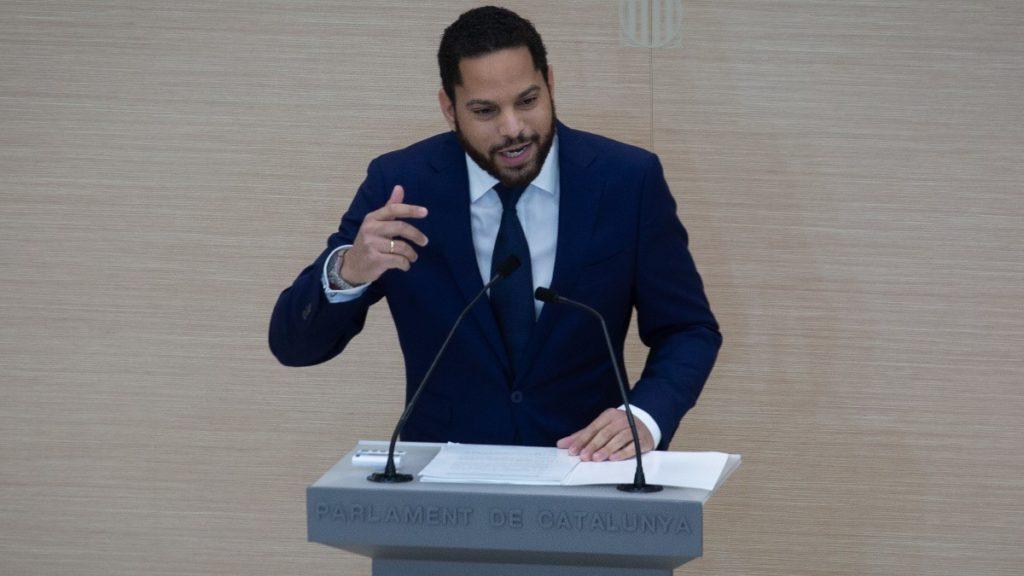 Ignacio Garriga, en el debate de investidura de Pere Aragonés
