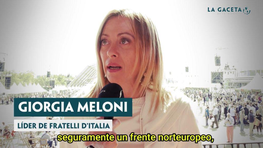 La líder de Fratelli d'Italia, Girogia Meloni